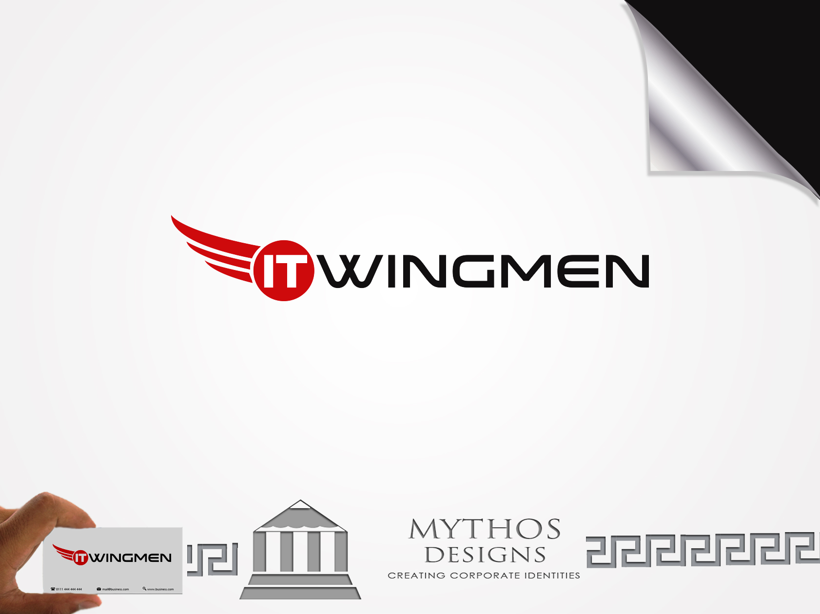 Logo Design by Mythos Designs - Entry No. 97 in the Logo Design Contest New Logo Design for IT Wingmen.