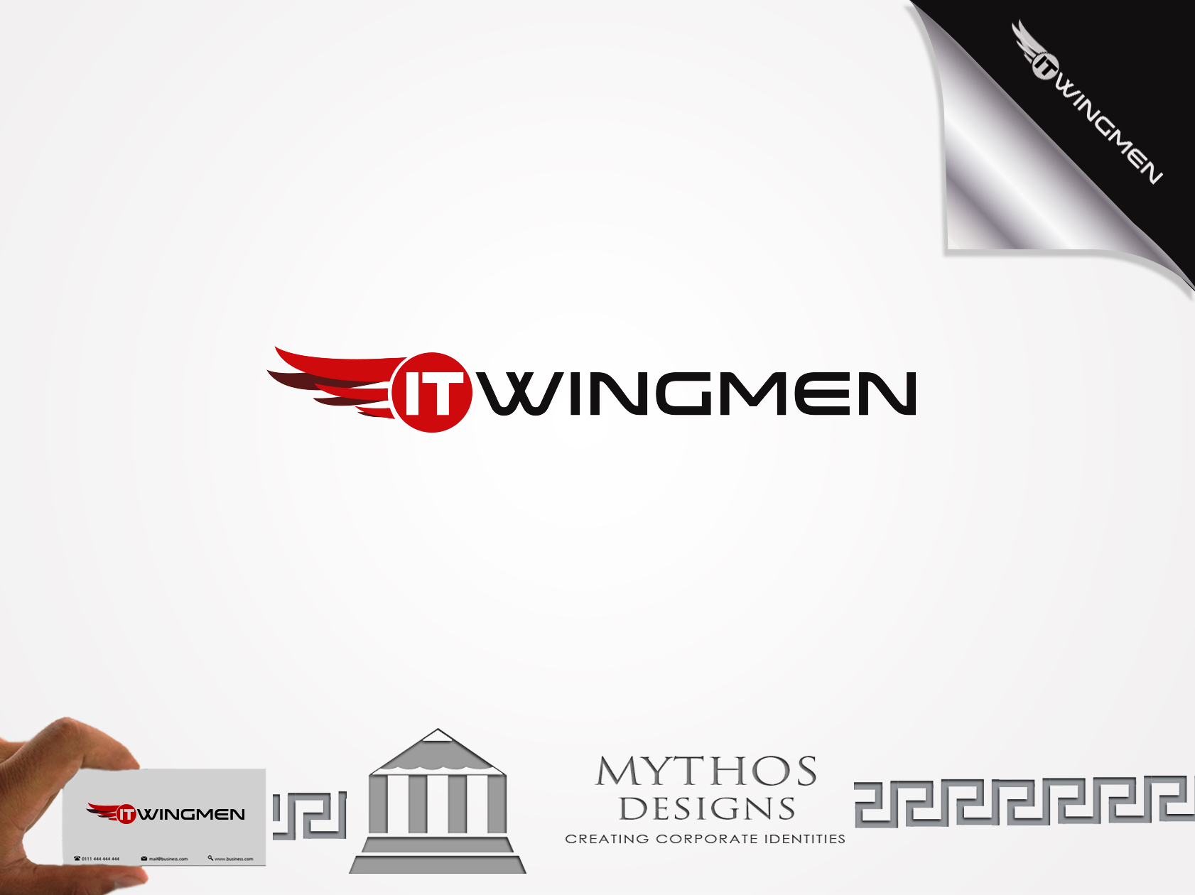 Logo Design by Mythos Designs - Entry No. 98 in the Logo Design Contest New Logo Design for IT Wingmen.