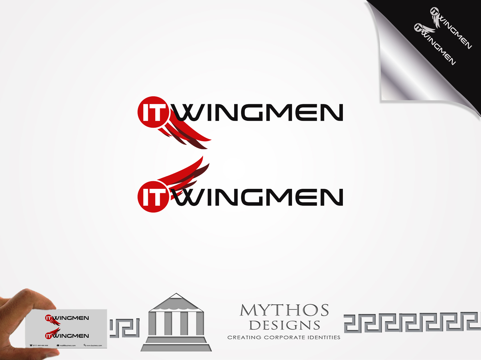 Logo Design by Mythos Designs - Entry No. 99 in the Logo Design Contest New Logo Design for IT Wingmen.