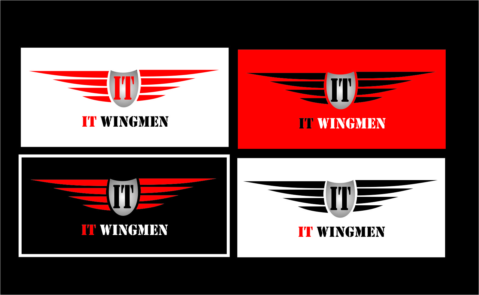 Logo Design by Agus Martoyo - Entry No. 100 in the Logo Design Contest New Logo Design for IT Wingmen.