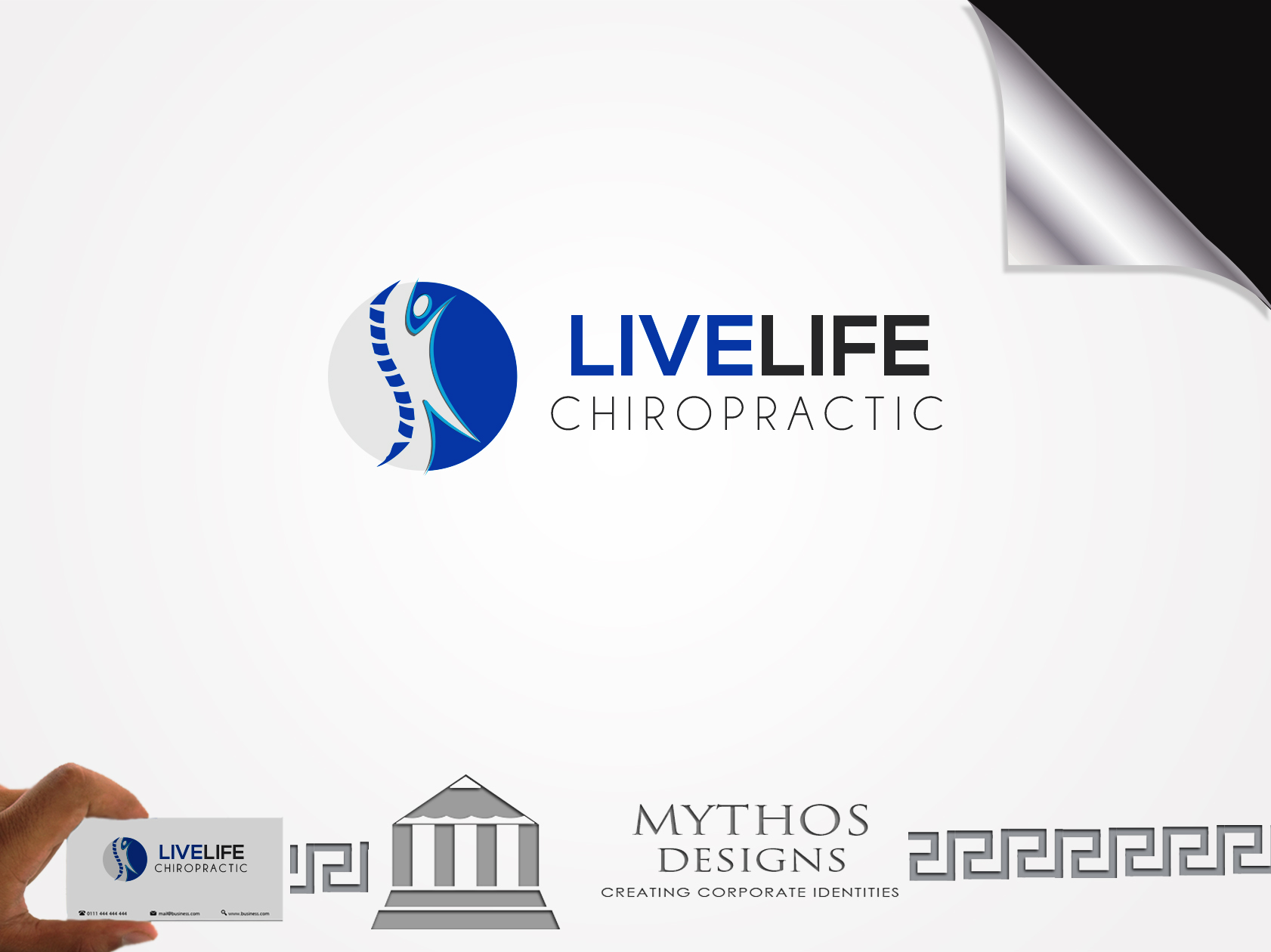 Logo Design by Mythos Designs - Entry No. 43 in the Logo Design Contest Captivating Logo Design for LiveLife Chiropractic.