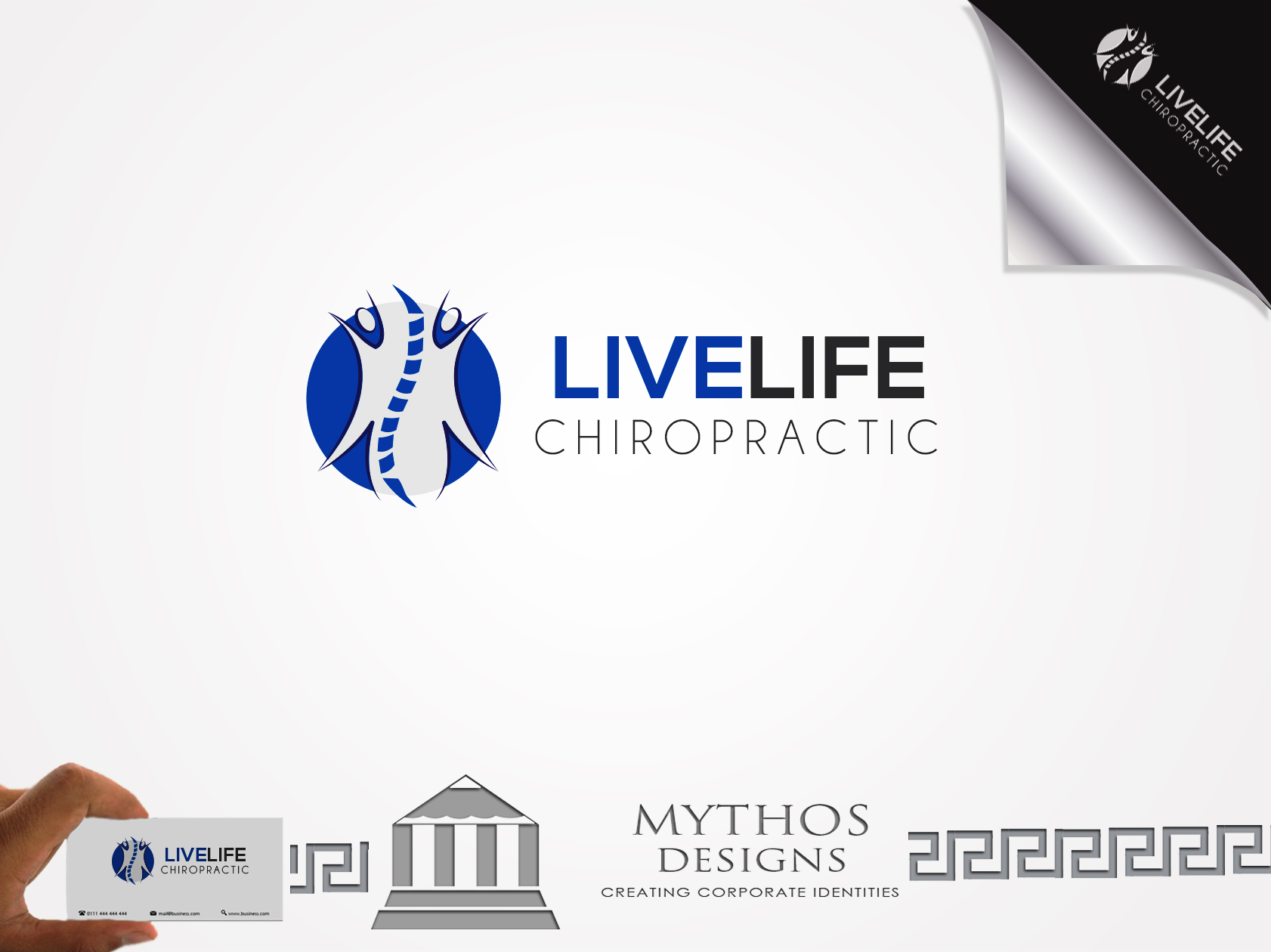 Logo Design by Mythos Designs - Entry No. 44 in the Logo Design Contest Captivating Logo Design for LiveLife Chiropractic.