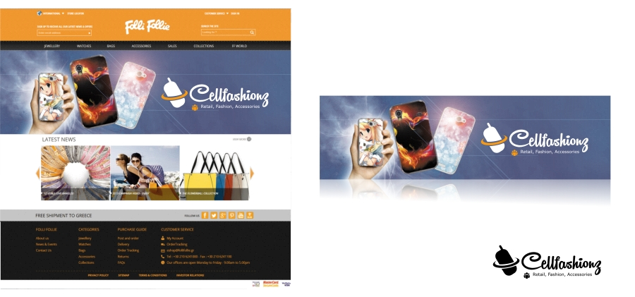 Banner Ad Design by Private User - Entry No. 7 in the Banner Ad Design Contest Captivating Banner Ad Design for Cellfashionz.