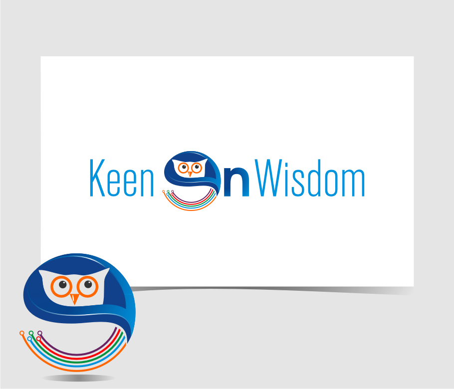 Logo Design by graphicleaf - Entry No. 19 in the Logo Design Contest Logo Design for Keen on Wisdom, Keen for Life, Keen 4 Life.