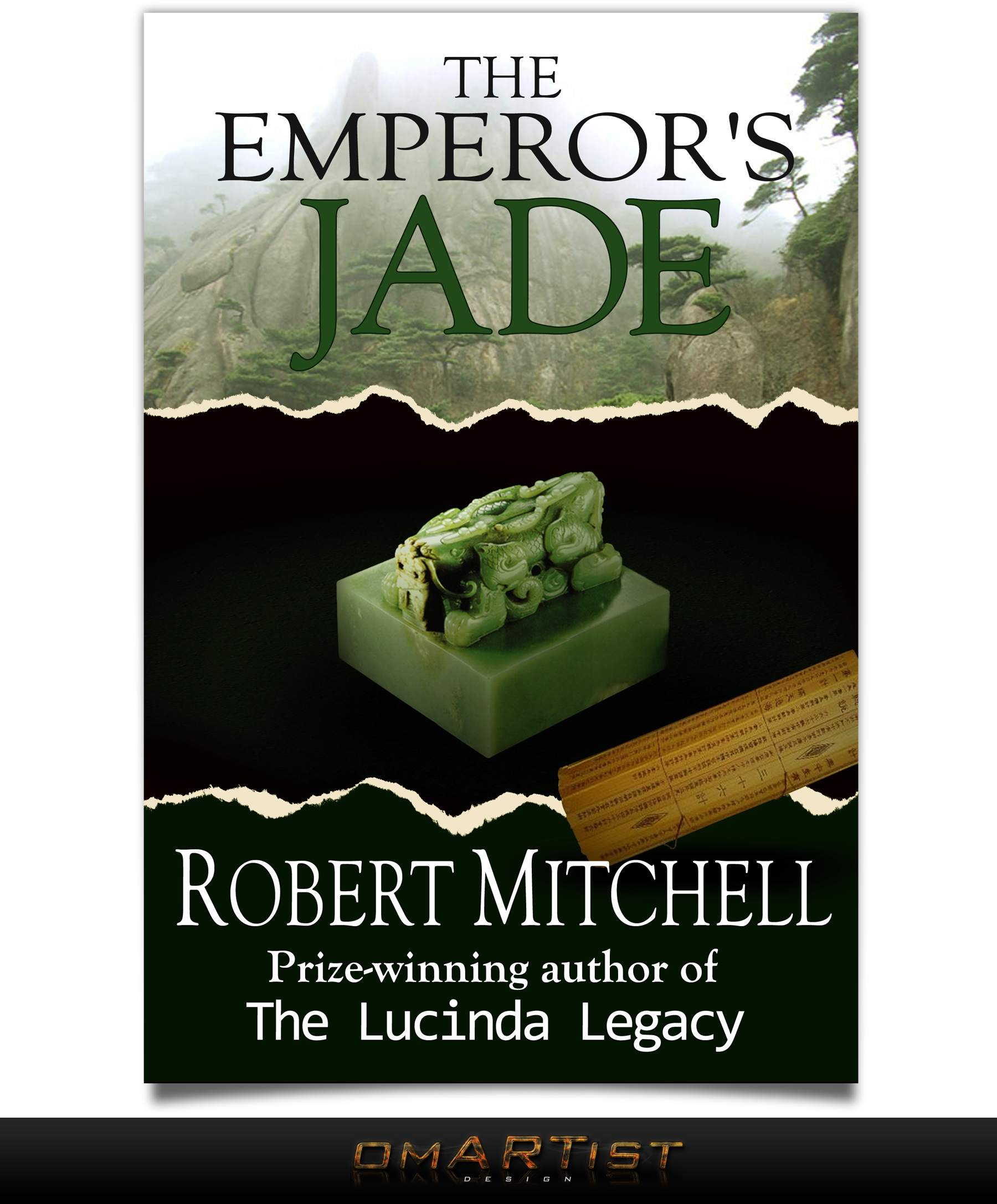Book Cover Design by omARTist - Entry No. 81 in the Book Cover Design Contest Book Cover Design for The Emperor's Jade.