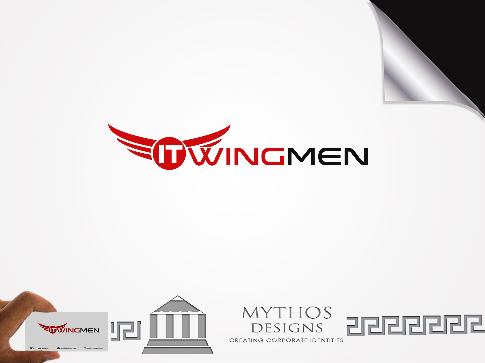 Logo Design by Mythos Designs - Entry No. 109 in the Logo Design Contest New Logo Design for IT Wingmen.