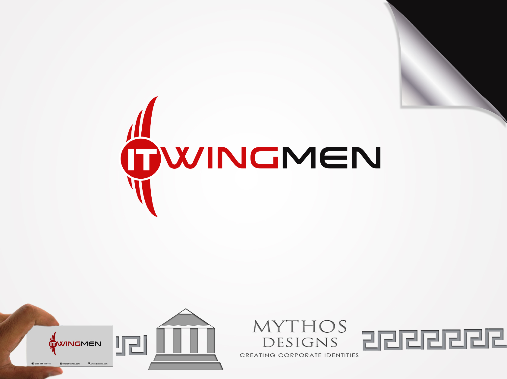 Logo Design by Mythos Designs - Entry No. 110 in the Logo Design Contest New Logo Design for IT Wingmen.