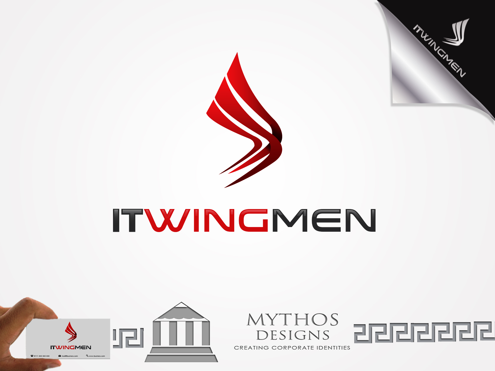 Logo Design by Mythos Designs - Entry No. 112 in the Logo Design Contest New Logo Design for IT Wingmen.
