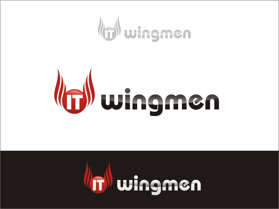 Logo Design by RED HORSE design studio - Entry No. 118 in the Logo Design Contest New Logo Design for IT Wingmen.