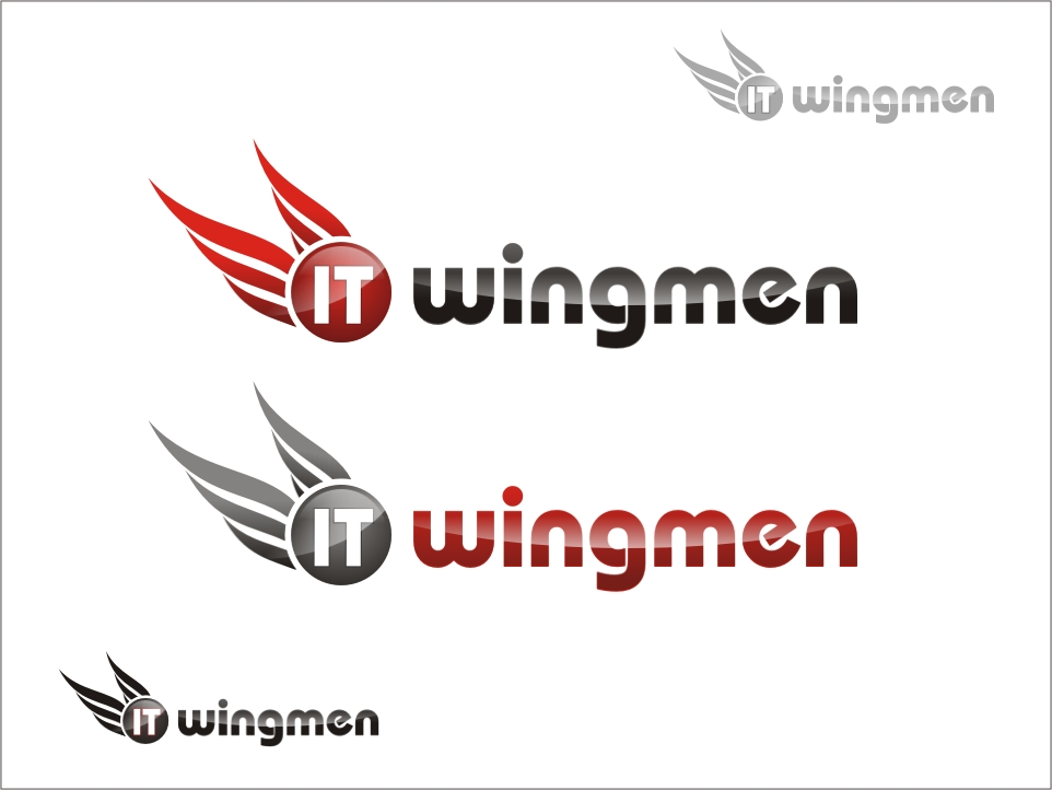 Logo Design by RED HORSE design studio - Entry No. 120 in the Logo Design Contest New Logo Design for IT Wingmen.