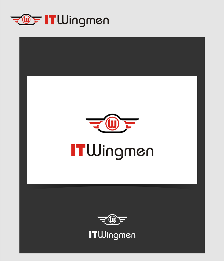 Logo Design by graphicleaf - Entry No. 124 in the Logo Design Contest New Logo Design for IT Wingmen.