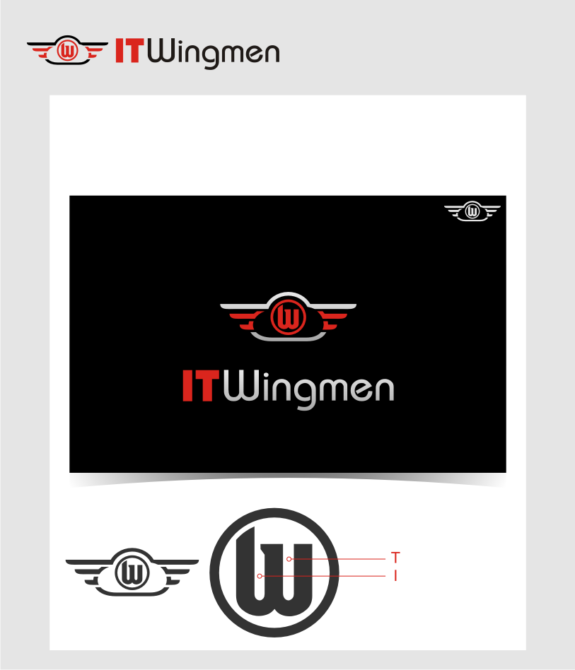 Logo Design by graphicleaf - Entry No. 125 in the Logo Design Contest New Logo Design for IT Wingmen.