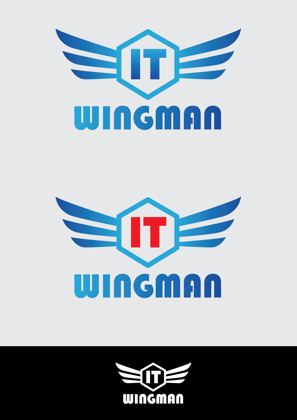 Logo Design by mediaproductionart - Entry No. 126 in the Logo Design Contest New Logo Design for IT Wingmen.