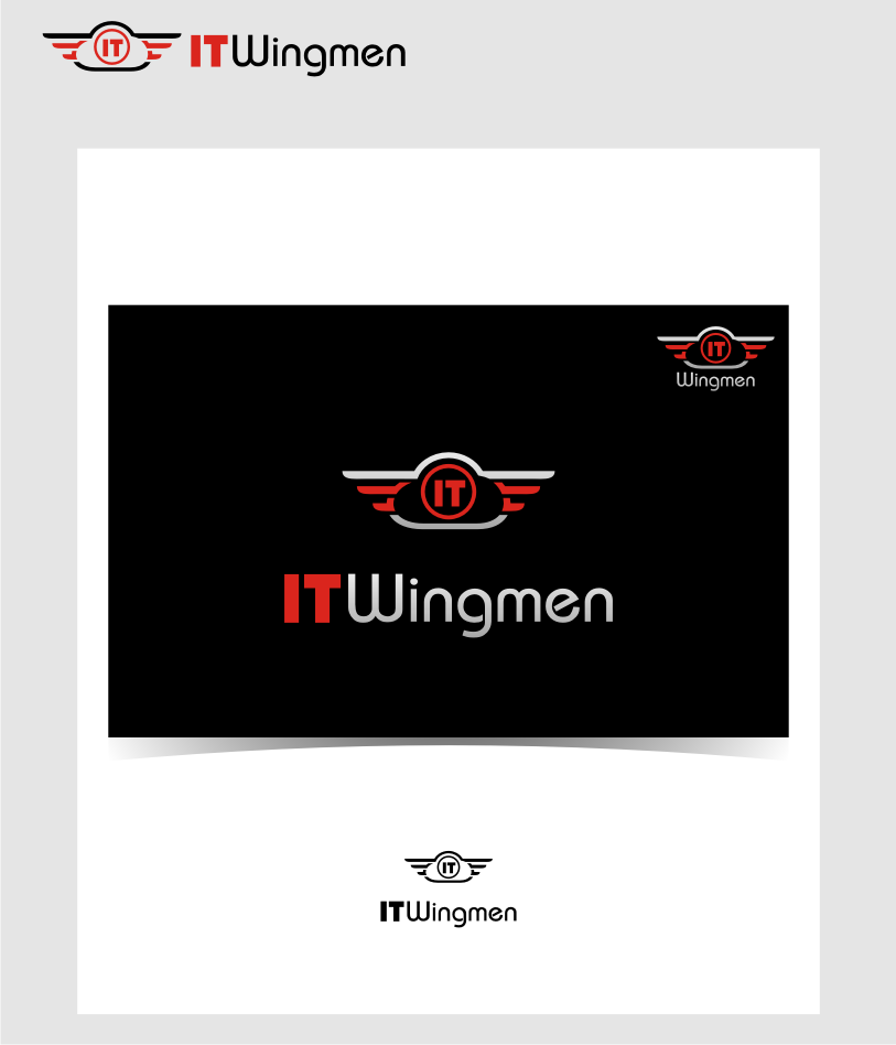 Logo Design by graphicleaf - Entry No. 127 in the Logo Design Contest New Logo Design for IT Wingmen.