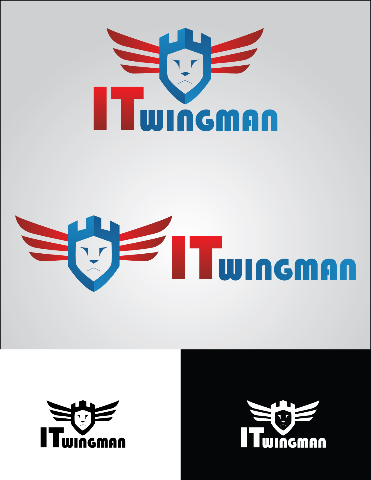 Logo Design by mediaproductionart - Entry No. 129 in the Logo Design Contest New Logo Design for IT Wingmen.