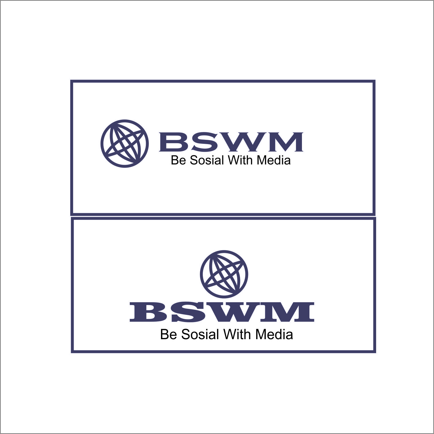 Logo Design by Agus Martoyo - Entry No. 81 in the Logo Design Contest Imaginative Logo Design for Be Social With Media.