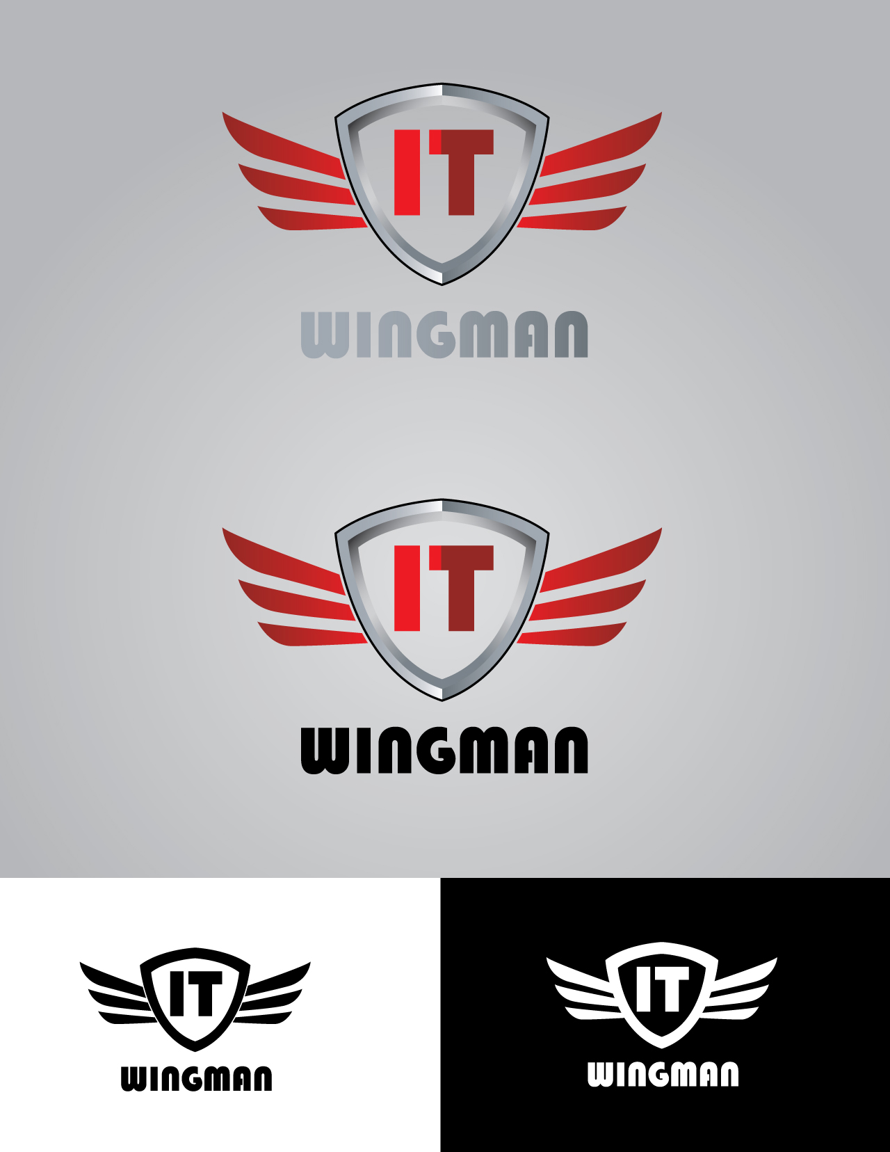 Logo Design by mediaproductionart - Entry No. 130 in the Logo Design Contest New Logo Design for IT Wingmen.