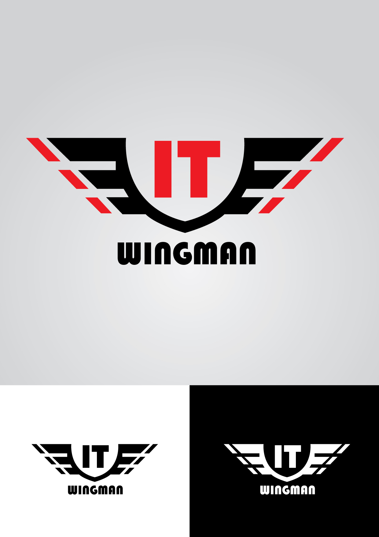 Logo Design by mediaproductionart - Entry No. 131 in the Logo Design Contest New Logo Design for IT Wingmen.