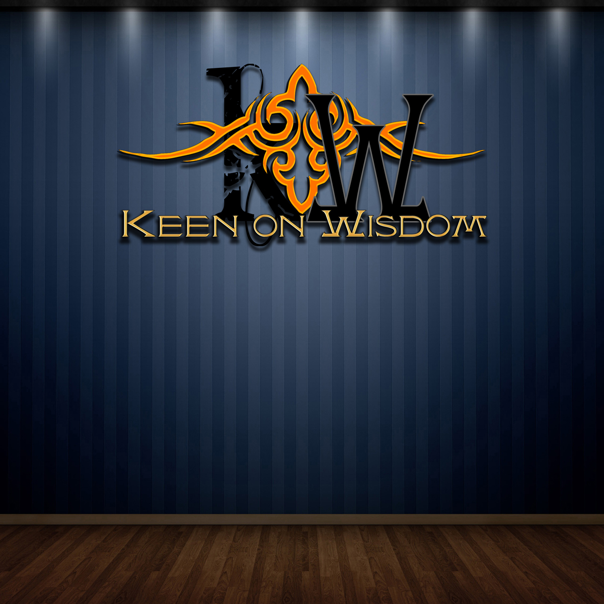 Logo Design by MITUCA ANDREI - Entry No. 28 in the Logo Design Contest Logo Design for Keen on Wisdom, Keen for Life, Keen 4 Life.
