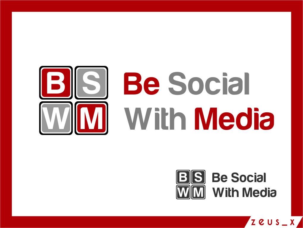 Logo Design by RasYa Muhammad Athaya - Entry No. 82 in the Logo Design Contest Imaginative Logo Design for Be Social With Media.