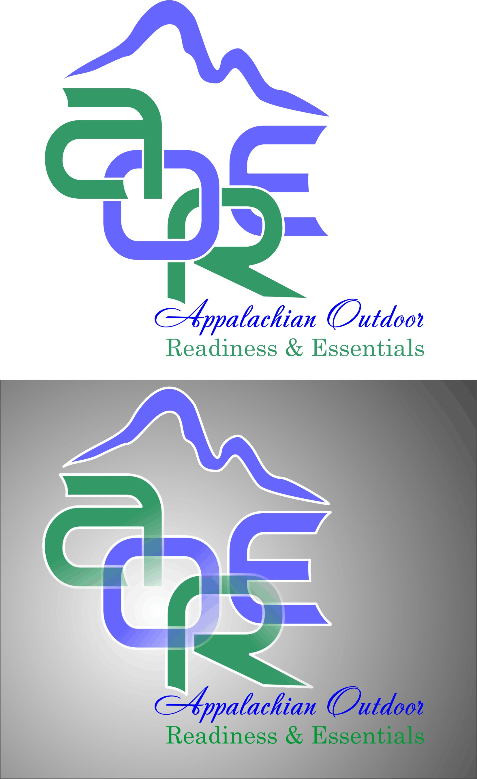Logo Design by Korsunov Oleg - Entry No. 15 in the Logo Design Contest Imaginative Logo Design for Appalachian Outdoor Readiness & Essentials.