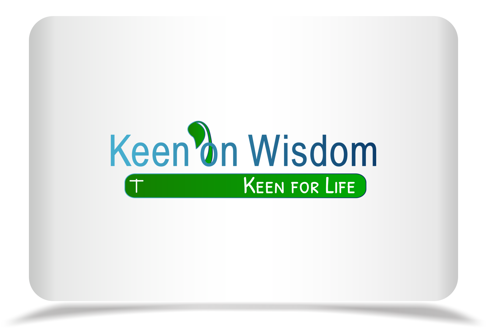 Logo Design by Rozsa Matyas - Entry No. 29 in the Logo Design Contest Logo Design for Keen on Wisdom, Keen for Life, Keen 4 Life.