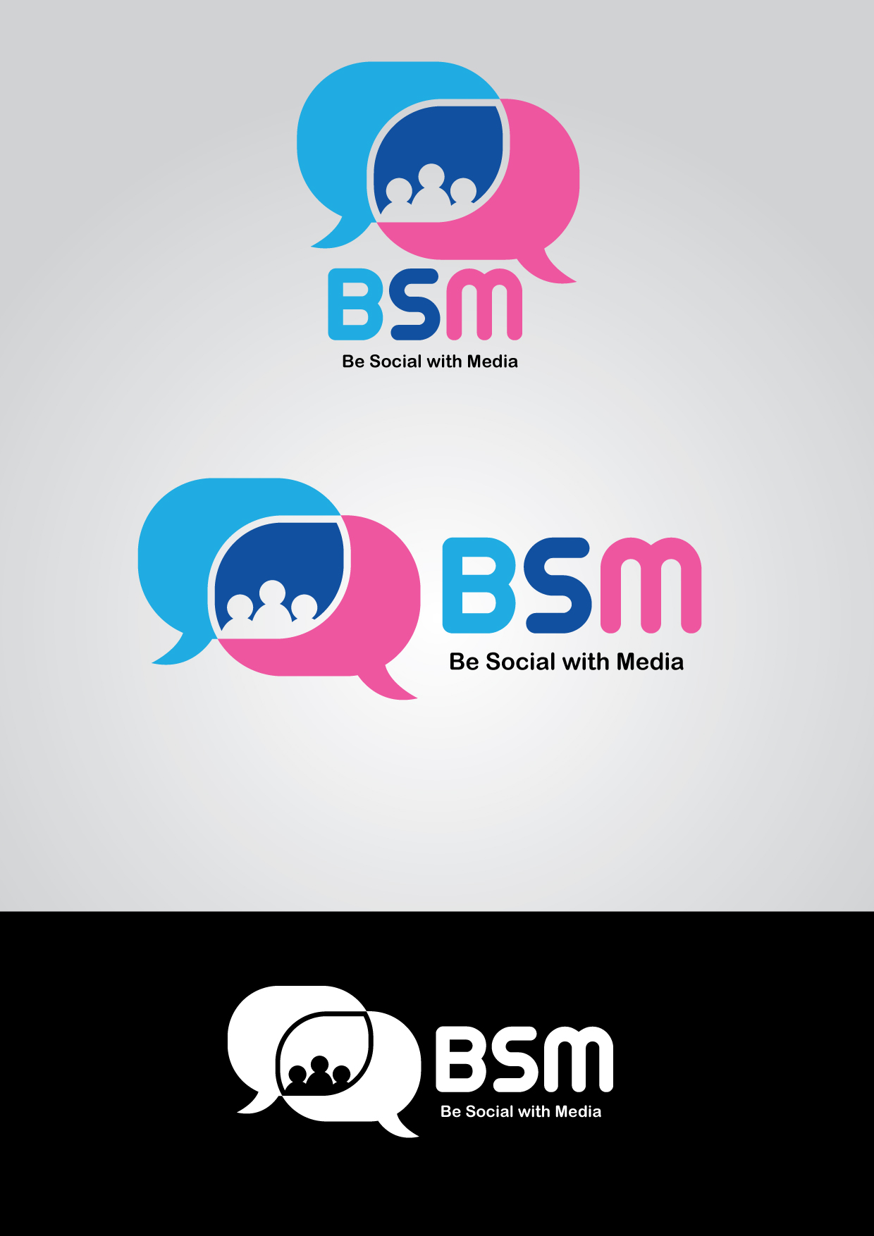 Logo Design by mediaproductionart - Entry No. 86 in the Logo Design Contest Imaginative Logo Design for Be Social With Media.