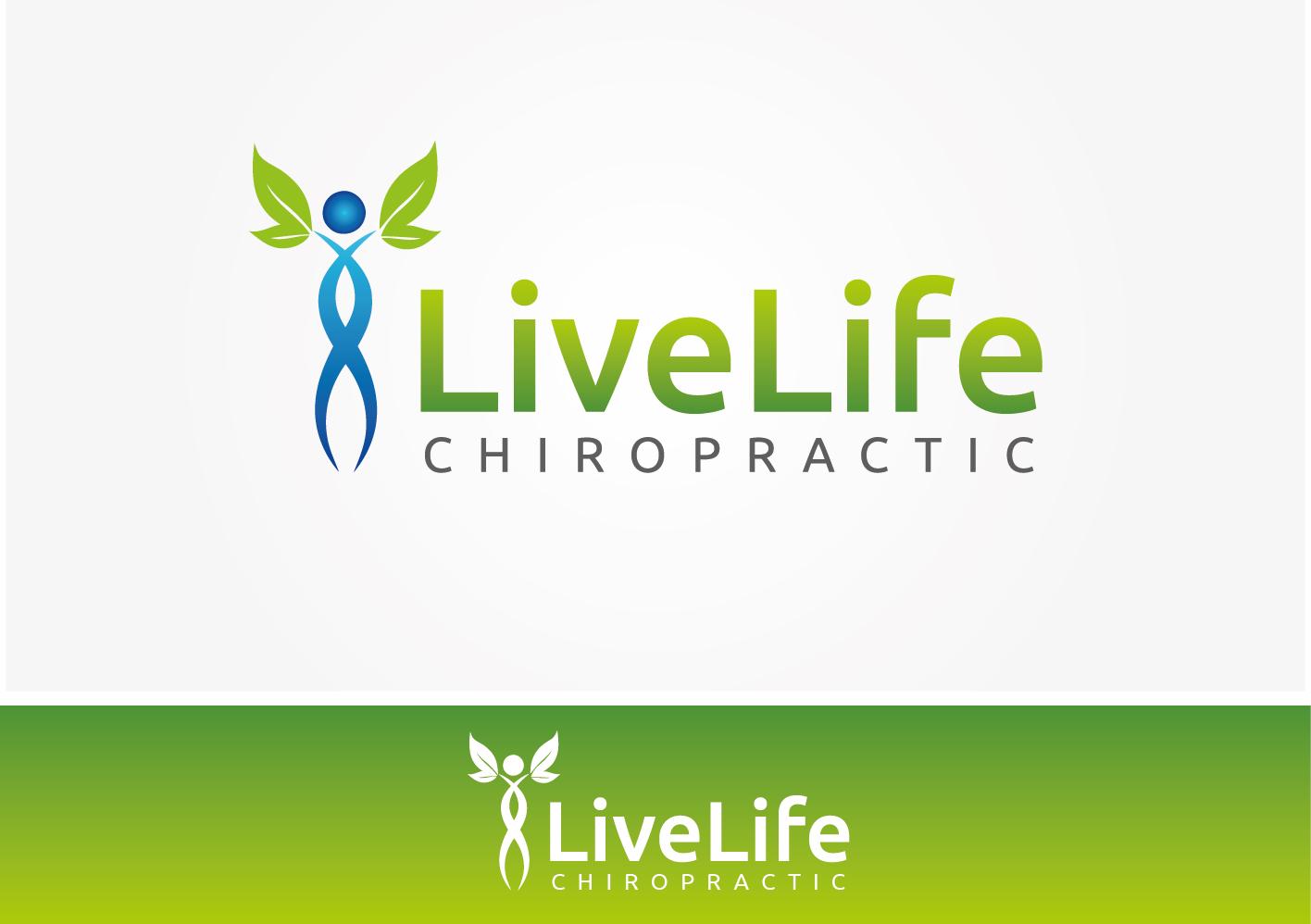 Logo Design by VENTSISLAV KOVACHEV - Entry No. 50 in the Logo Design Contest Captivating Logo Design for LiveLife Chiropractic.
