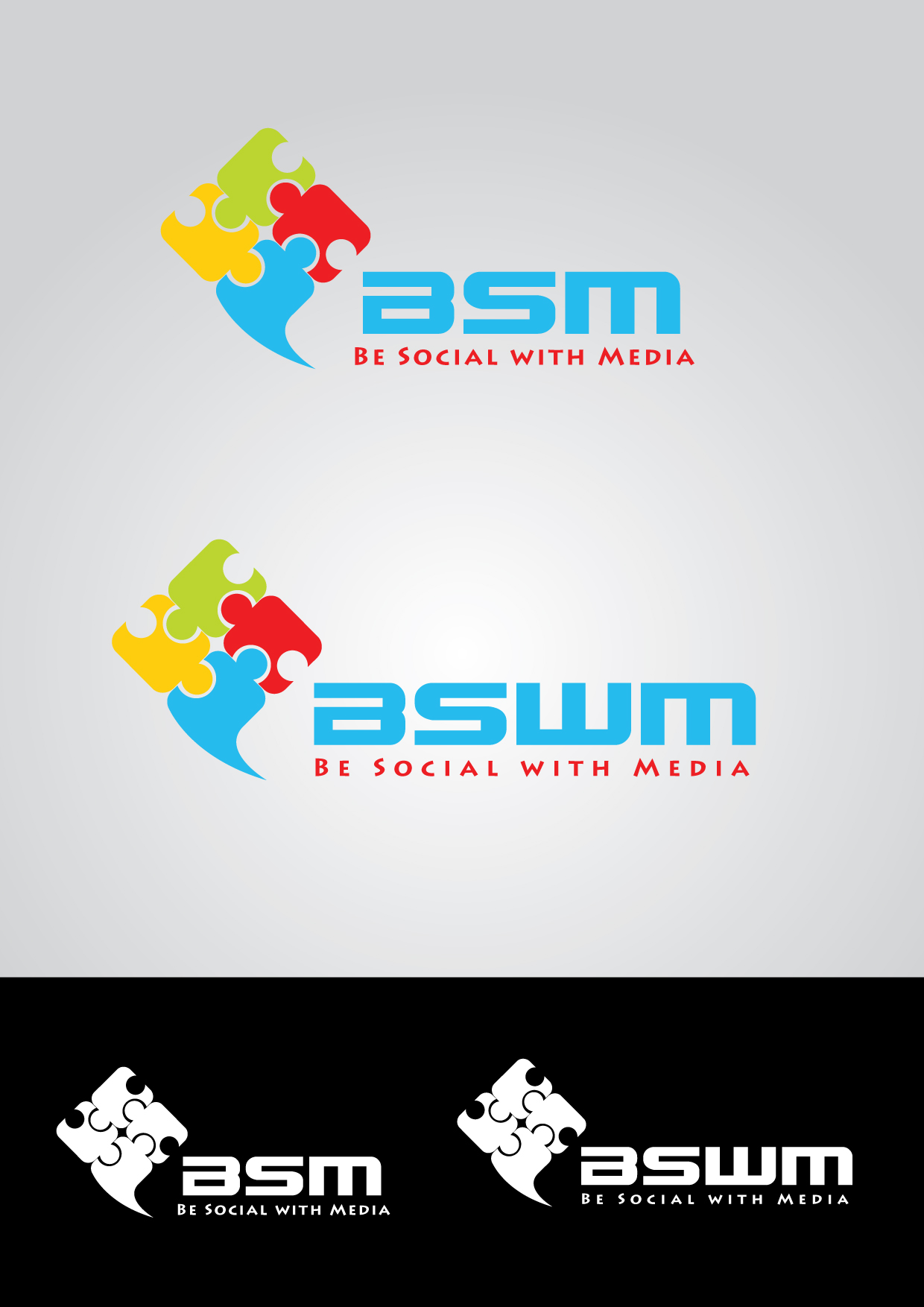 Logo Design by mediaproductionart - Entry No. 88 in the Logo Design Contest Imaginative Logo Design for Be Social With Media.