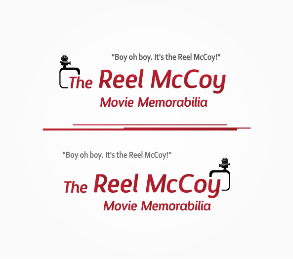 Logo Design by 354studio - Entry No. 31 in the Logo Design Contest Unique Logo Design Wanted for The Reel McCoy Movie Memorabilia.