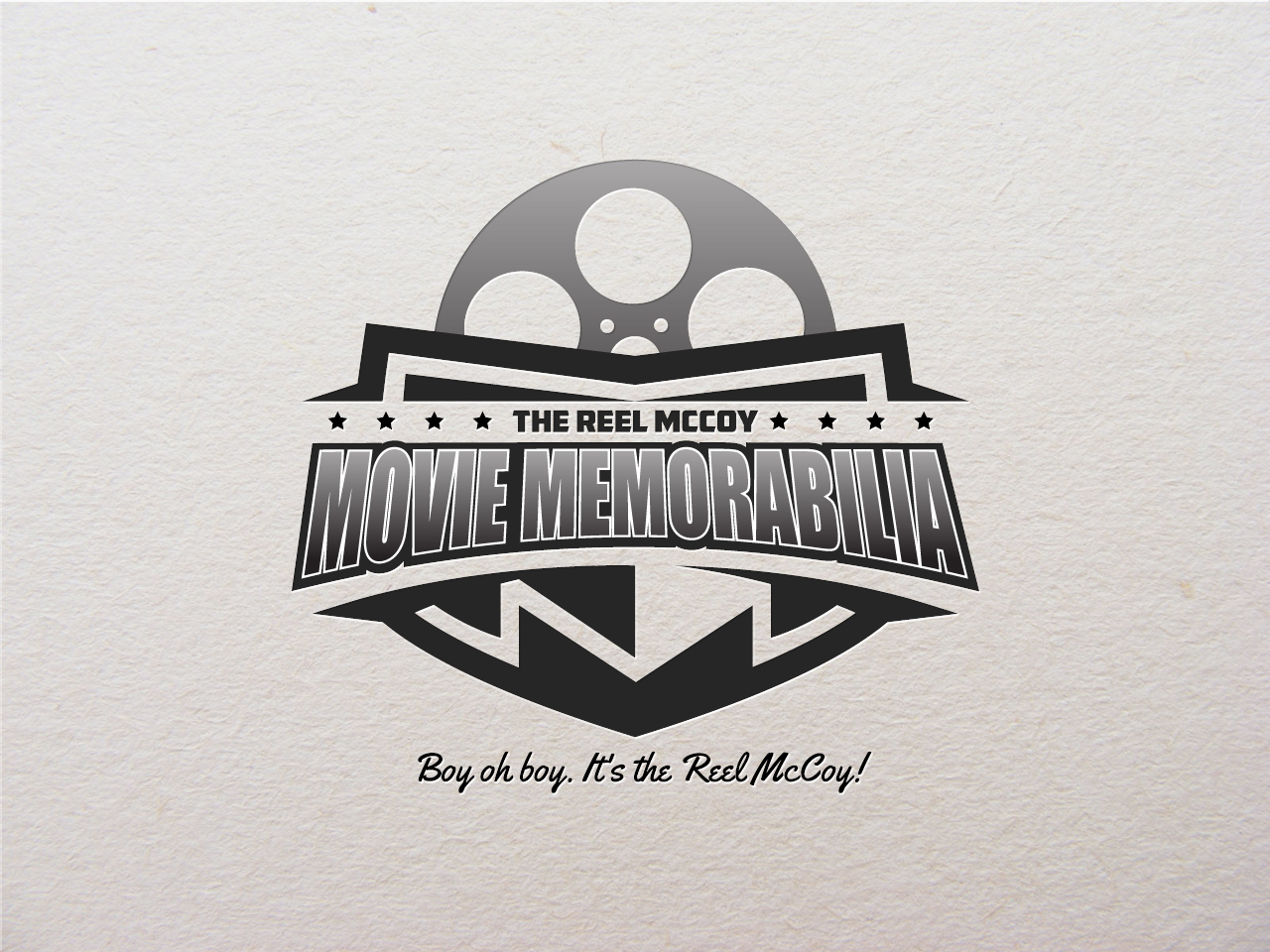 Logo Design by jpbituin - Entry No. 38 in the Logo Design Contest Unique Logo Design Wanted for The Reel McCoy Movie Memorabilia.