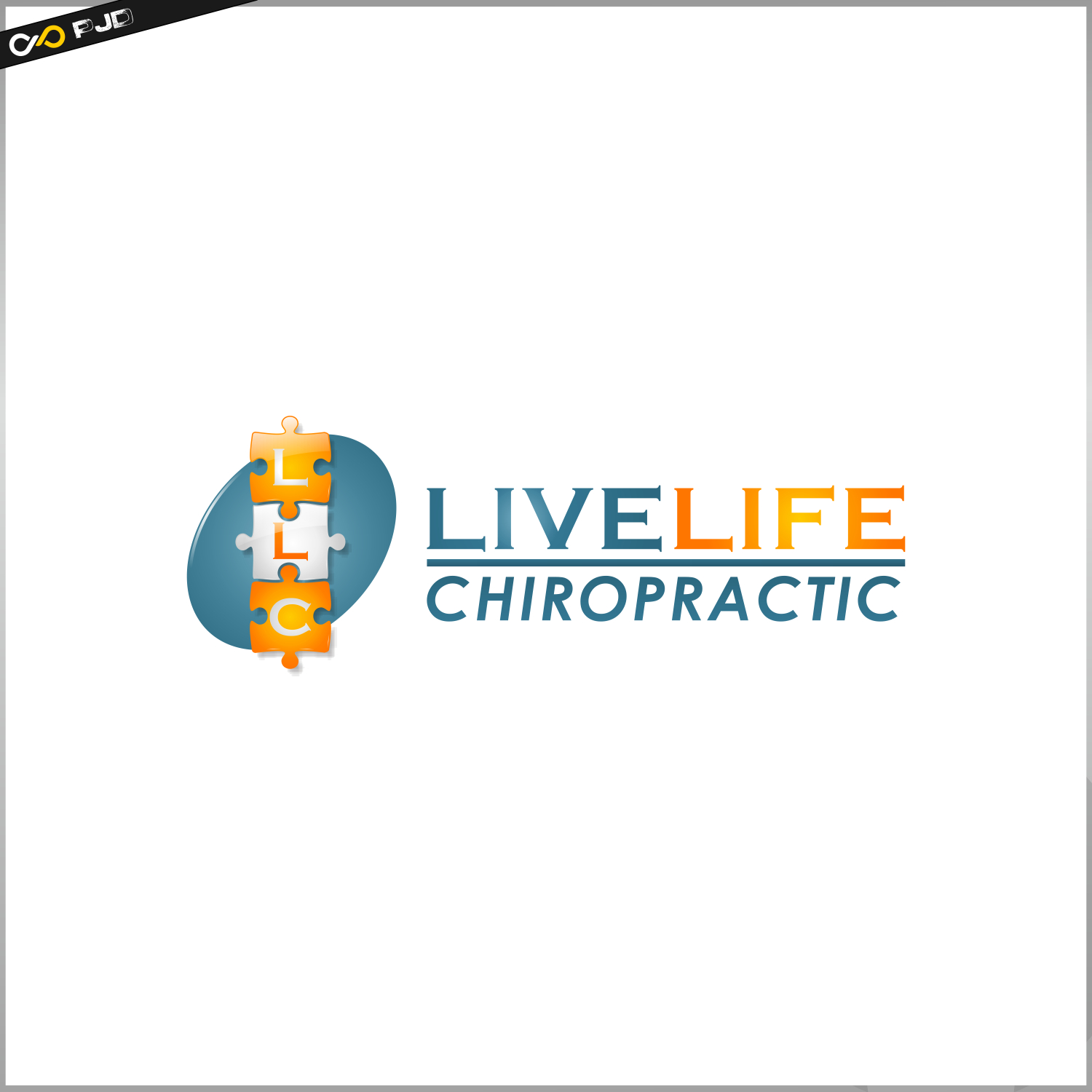 Logo Design by PJD - Entry No. 65 in the Logo Design Contest Captivating Logo Design for LiveLife Chiropractic.
