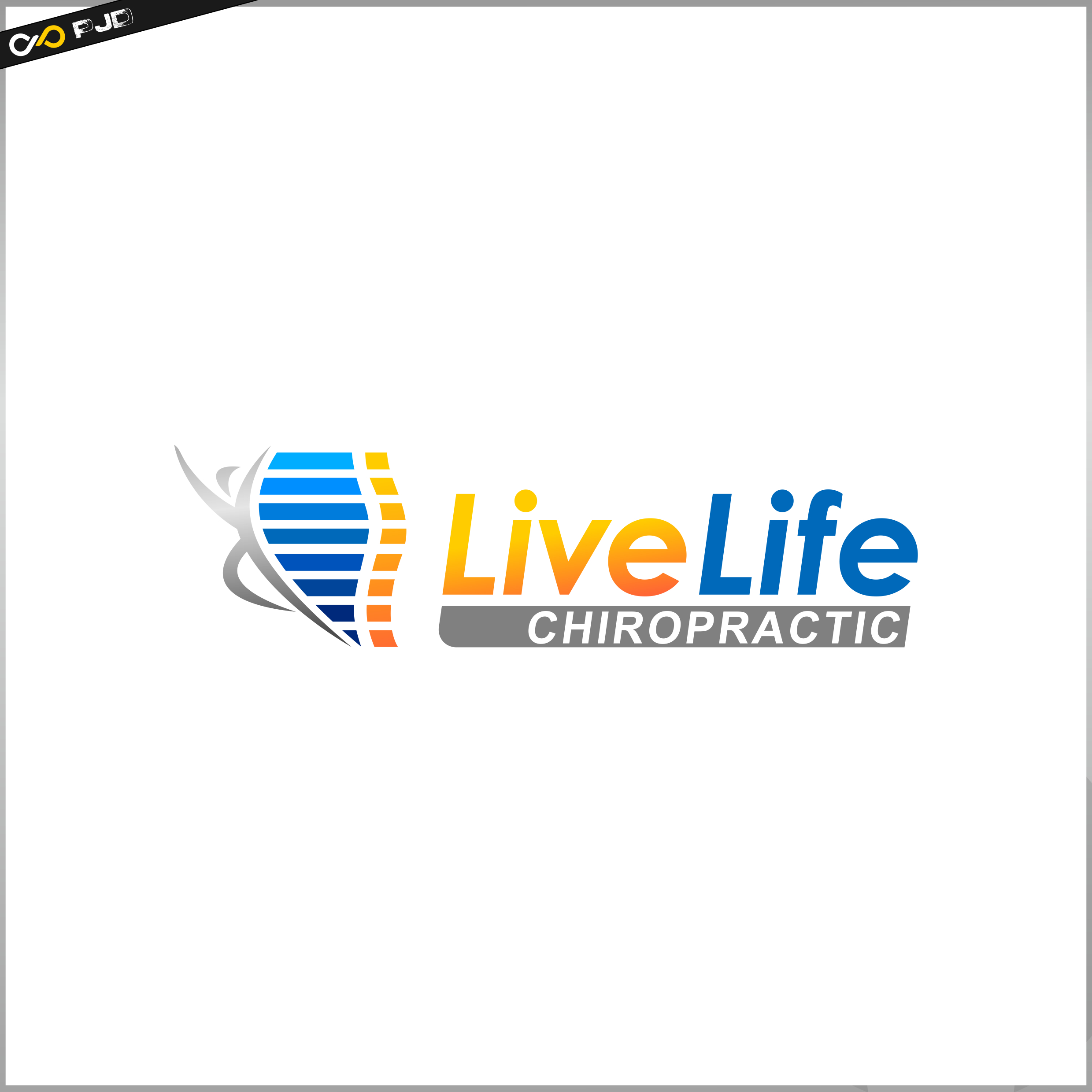 Logo Design by PJD - Entry No. 66 in the Logo Design Contest Captivating Logo Design for LiveLife Chiropractic.