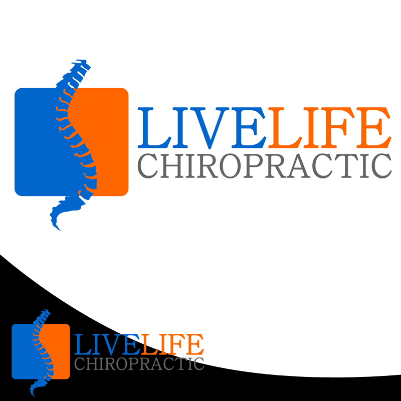 Logo Design by Private User - Entry No. 70 in the Logo Design Contest Captivating Logo Design for LiveLife Chiropractic.