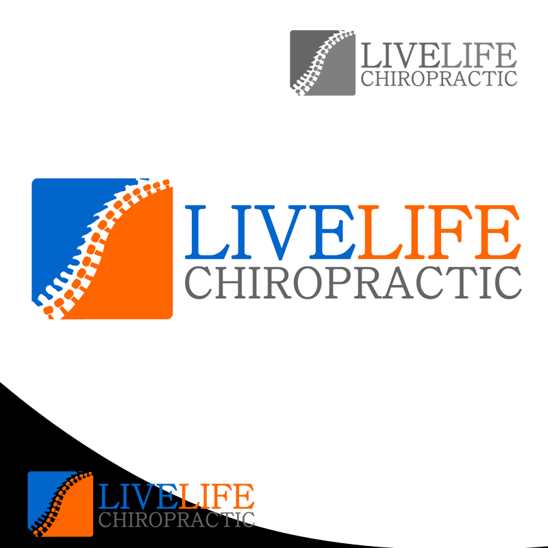 Logo Design by Robert Turla - Entry No. 71 in the Logo Design Contest Captivating Logo Design for LiveLife Chiropractic.