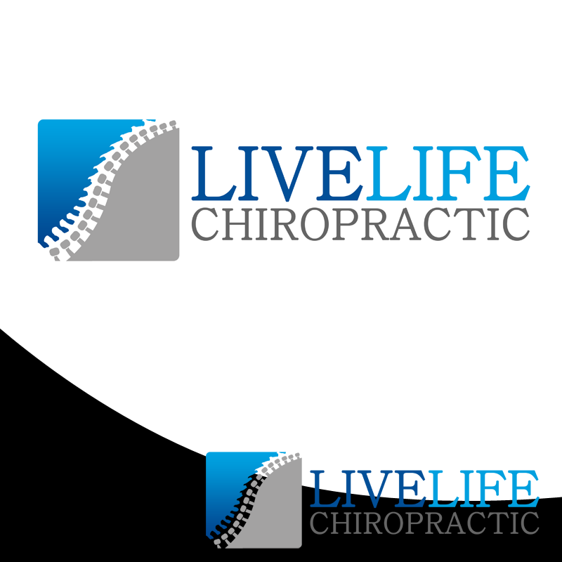 Logo Design by Private User - Entry No. 74 in the Logo Design Contest Captivating Logo Design for LiveLife Chiropractic.