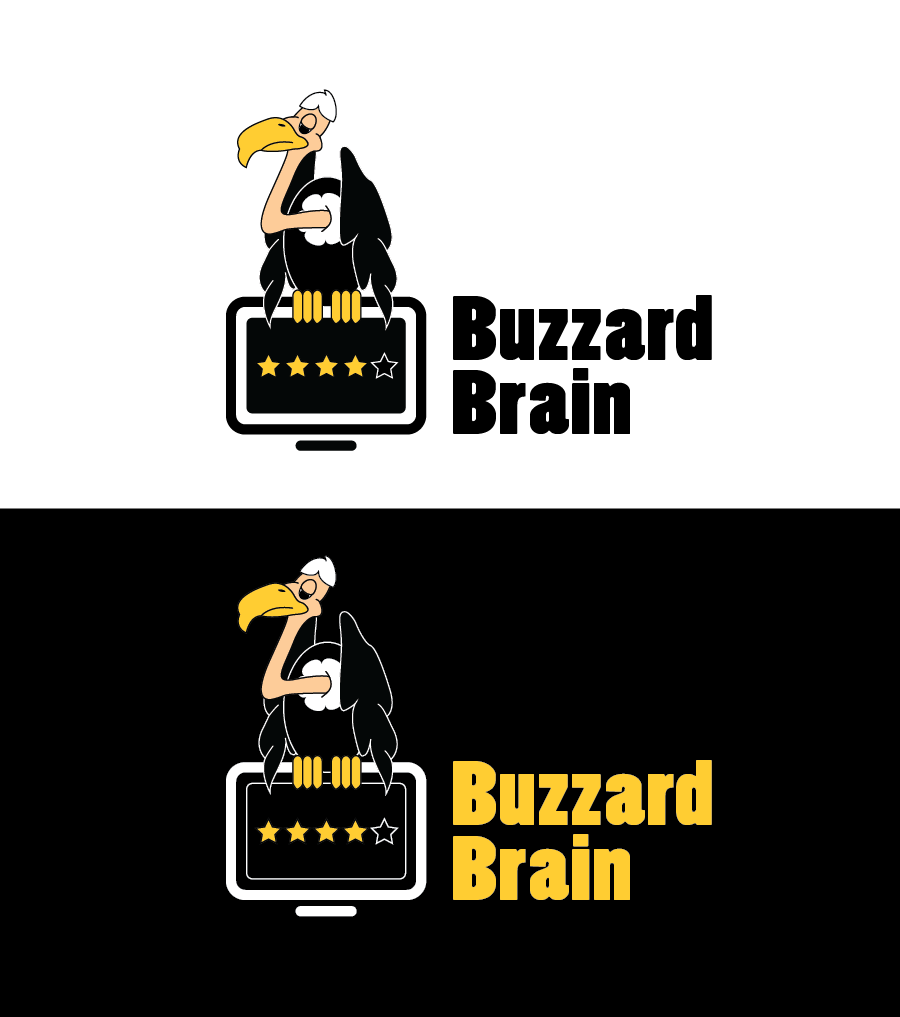 Logo Design by Christina Evans - Entry No. 30 in the Logo Design Contest Buzzard Brain Logo Design.