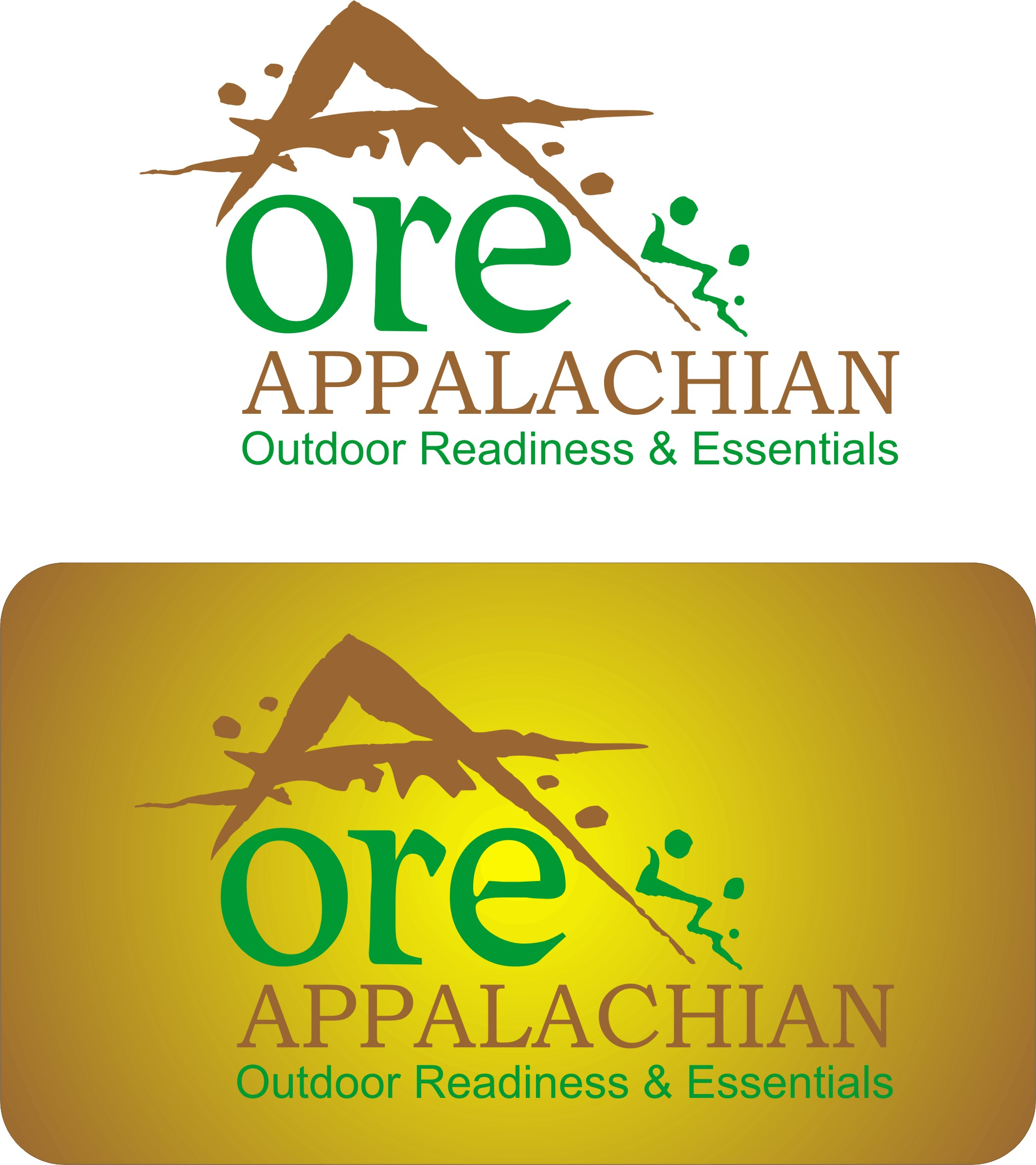 Logo Design by Korsunov Oleg - Entry No. 18 in the Logo Design Contest Imaginative Logo Design for Appalachian Outdoor Readiness & Essentials.