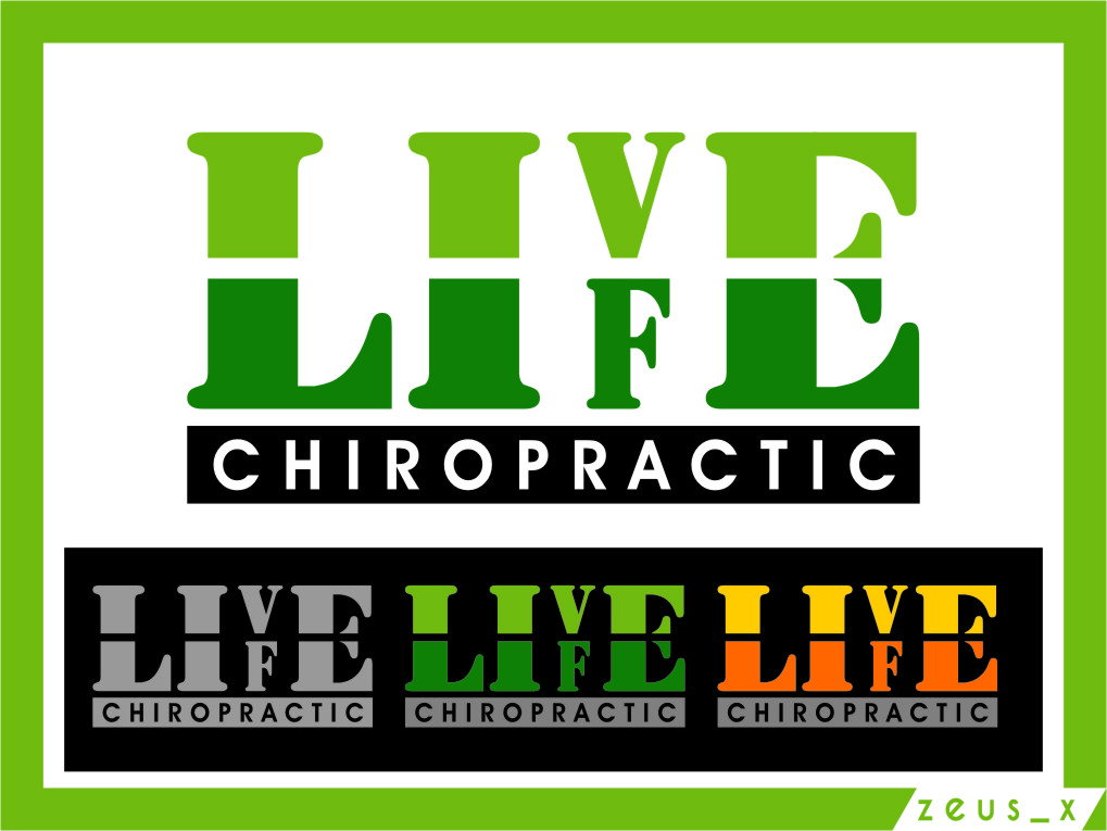 Logo Design by Ngepet_art - Entry No. 83 in the Logo Design Contest Captivating Logo Design for LiveLife Chiropractic.