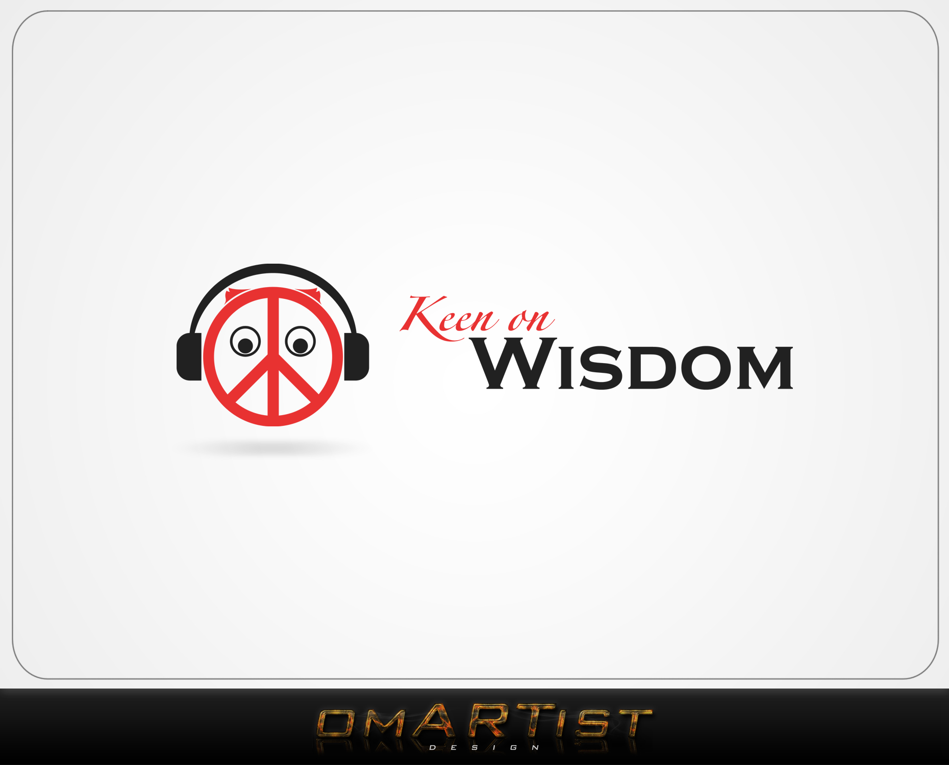 Logo Design by omARTist - Entry No. 46 in the Logo Design Contest Logo Design for Keen on Wisdom, Keen for Life, Keen 4 Life.