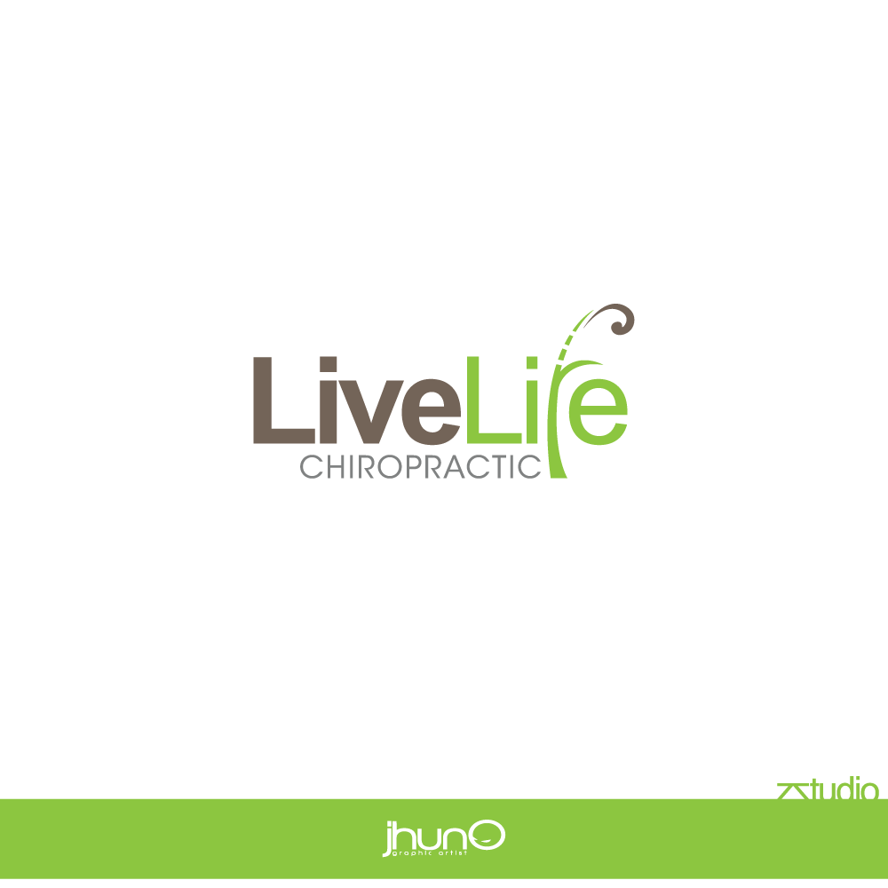 Logo Design by zesthar - Entry No. 90 in the Logo Design Contest Captivating Logo Design for LiveLife Chiropractic.