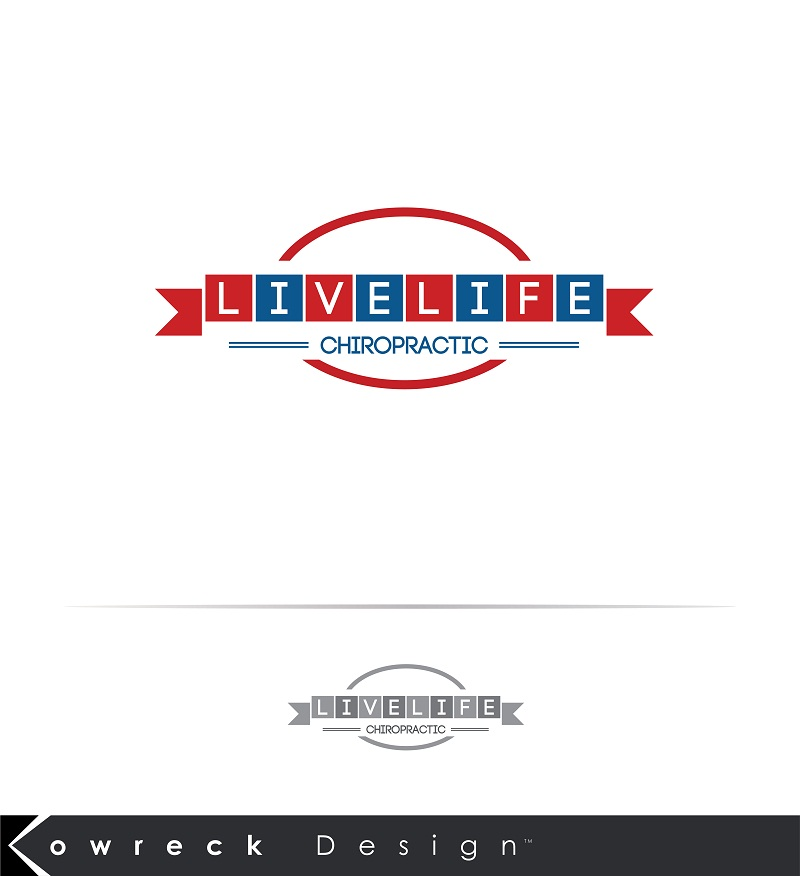 Logo Design by kowreck - Entry No. 94 in the Logo Design Contest Captivating Logo Design for LiveLife Chiropractic.