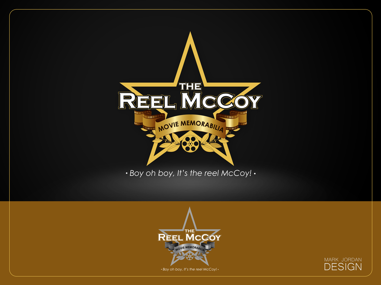 Logo Design by Mark Anthony Moreto Jordan - Entry No. 47 in the Logo Design Contest Unique Logo Design Wanted for The Reel McCoy Movie Memorabilia.