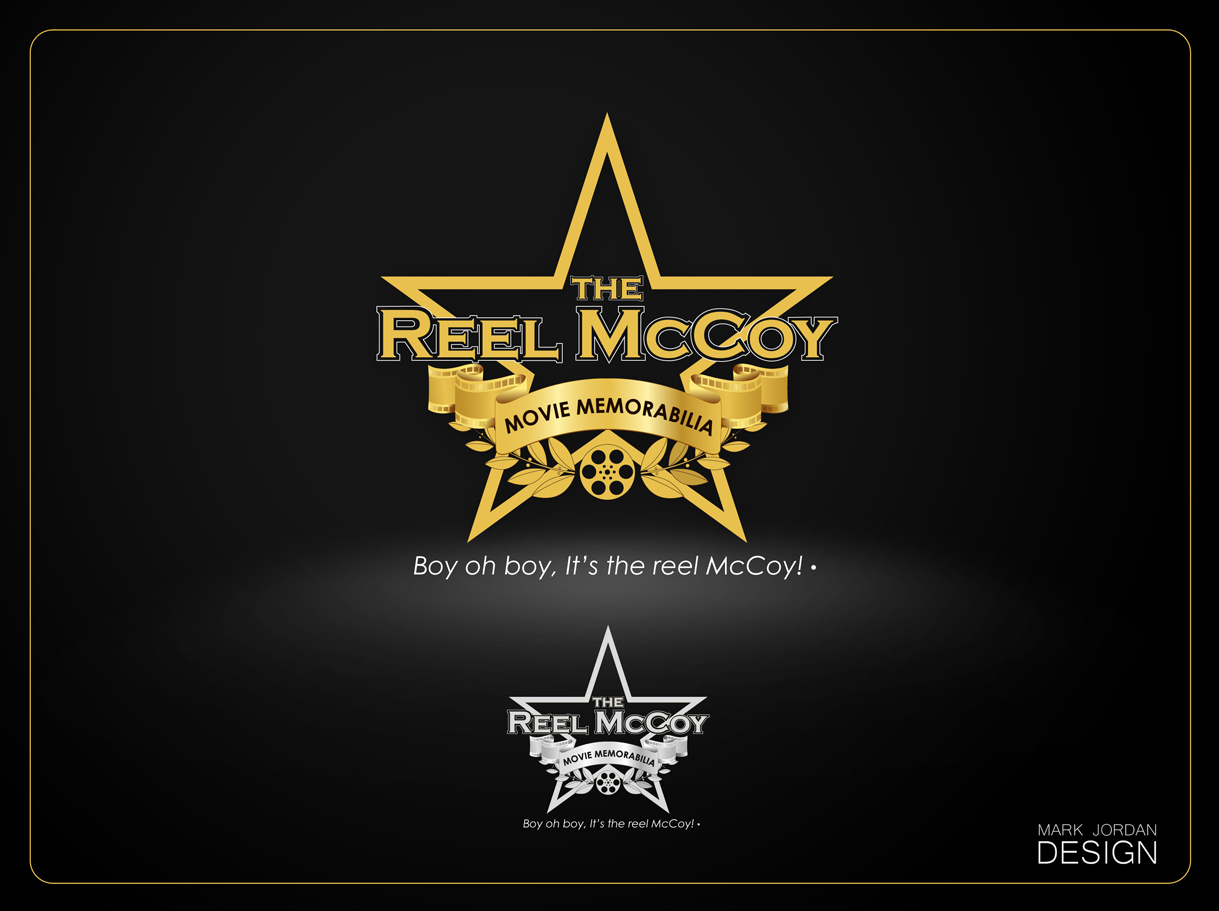 Logo Design by Mark Anthony Moreto Jordan - Entry No. 48 in the Logo Design Contest Unique Logo Design Wanted for The Reel McCoy Movie Memorabilia.