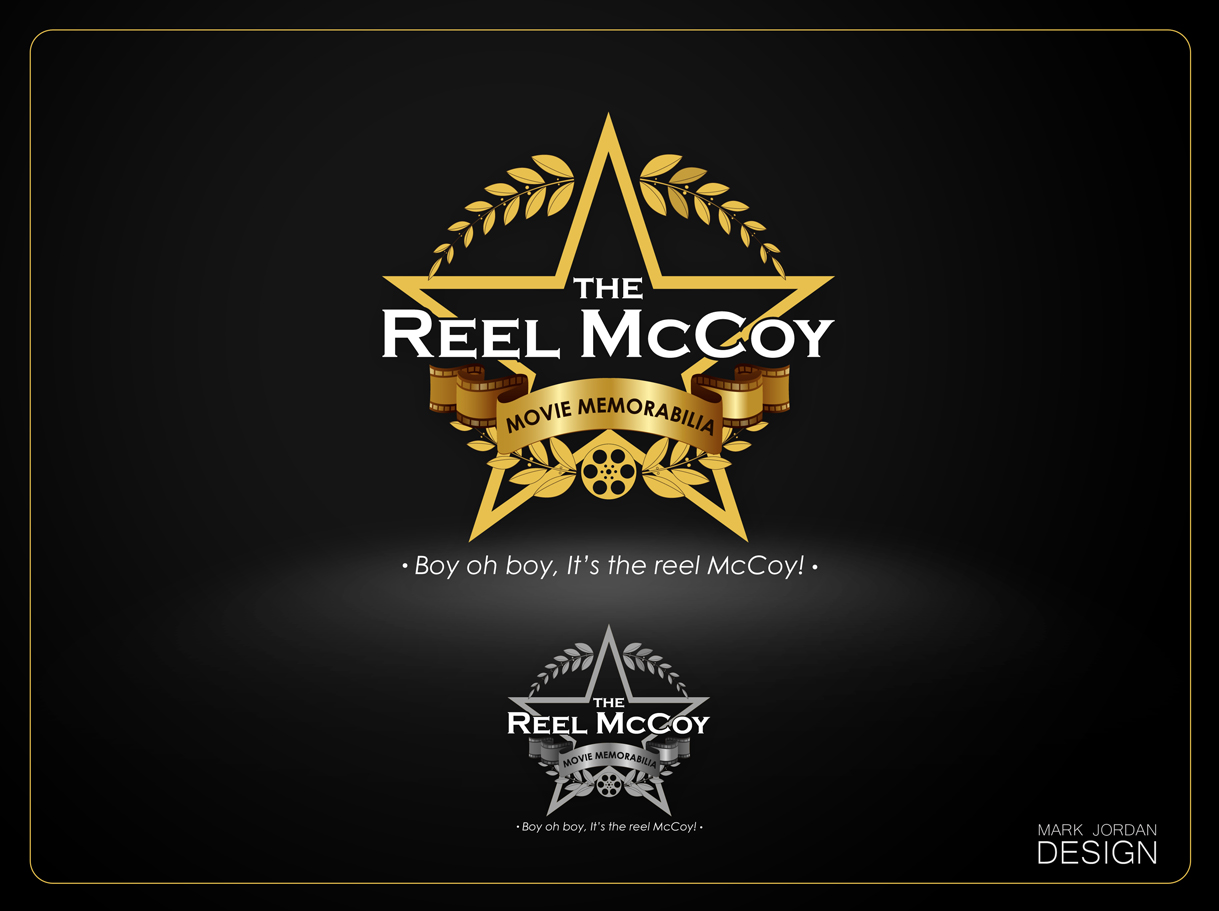 Logo Design by Mark Anthony Moreto Jordan - Entry No. 49 in the Logo Design Contest Unique Logo Design Wanted for The Reel McCoy Movie Memorabilia.