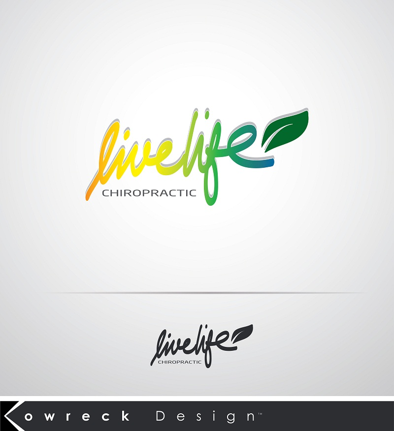 Logo Design by kowreck - Entry No. 97 in the Logo Design Contest Captivating Logo Design for LiveLife Chiropractic.