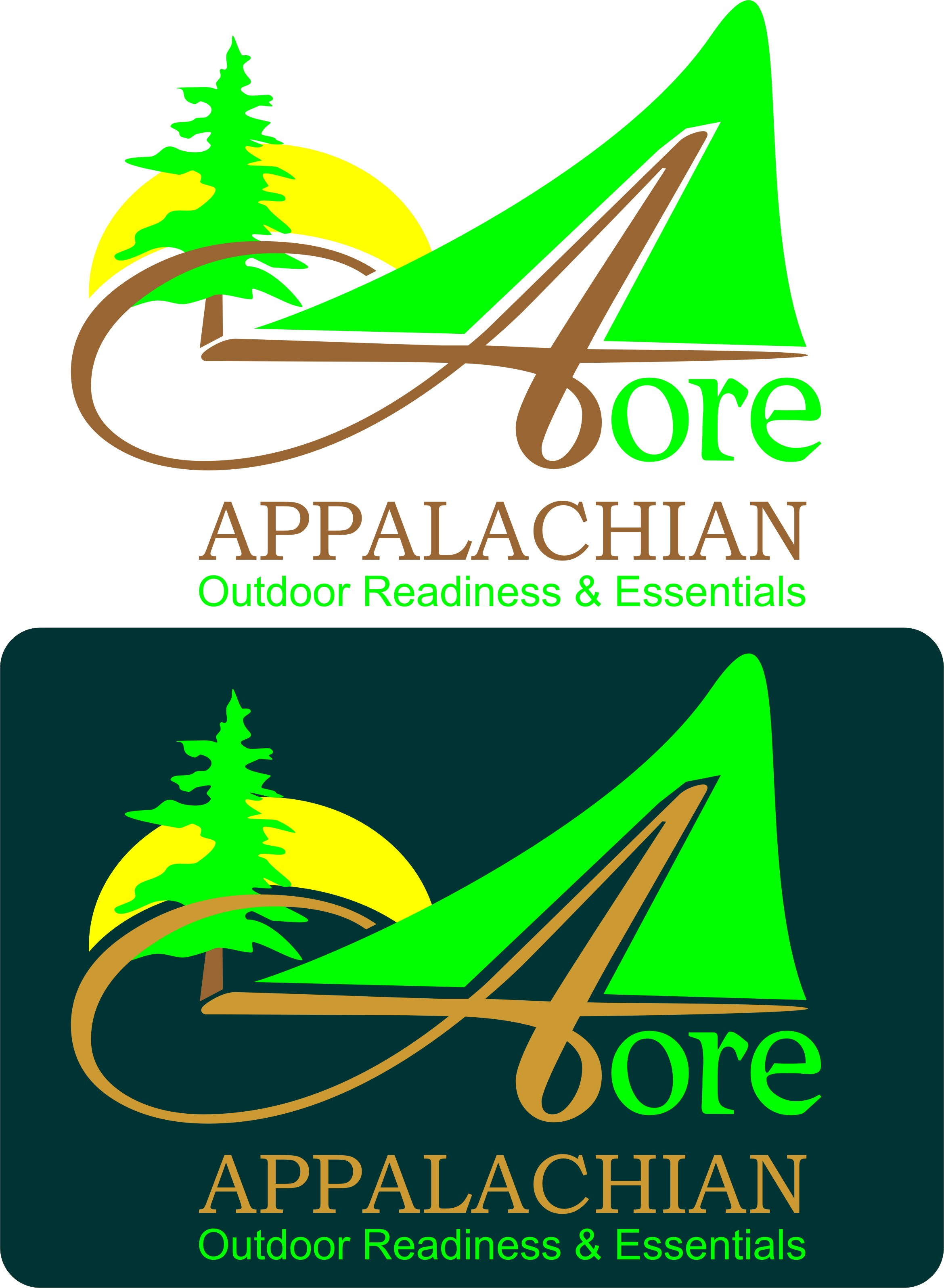 Logo Design by Korsunov Oleg - Entry No. 19 in the Logo Design Contest Imaginative Logo Design for Appalachian Outdoor Readiness & Essentials.