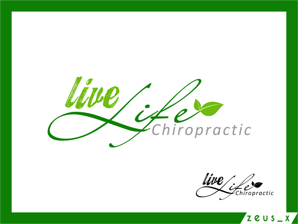 Logo Design by RasYa Muhammad Athaya - Entry No. 112 in the Logo Design Contest Captivating Logo Design for LiveLife Chiropractic.