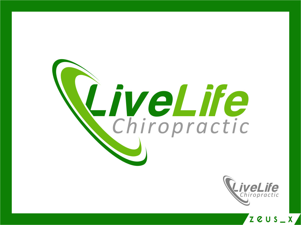 Logo Design by RasYa Muhammad Athaya - Entry No. 115 in the Logo Design Contest Captivating Logo Design for LiveLife Chiropractic.