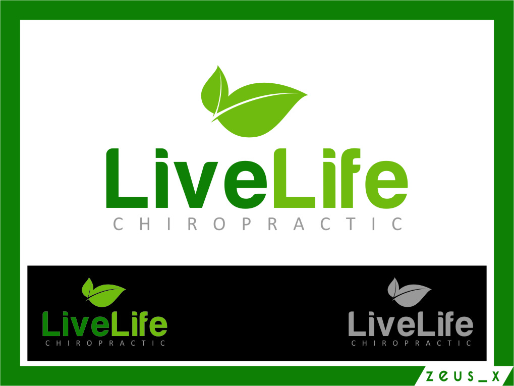 Logo Design by RasYa Muhammad Athaya - Entry No. 117 in the Logo Design Contest Captivating Logo Design for LiveLife Chiropractic.